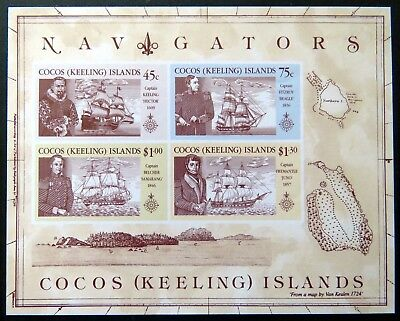 1990 Cocos Keeling Island Stamps - Navigators - Mini Sheet MNH