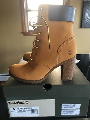 best sneakers 7eea5 c38ca Timberland Women s Glancy 6 in. High Heel Boots Wheat Nubuck Size 9