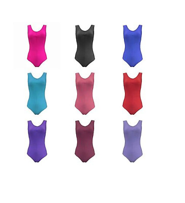 Lycra ruched front tank leotard (leo/2 / Angela) - all colours and sizes