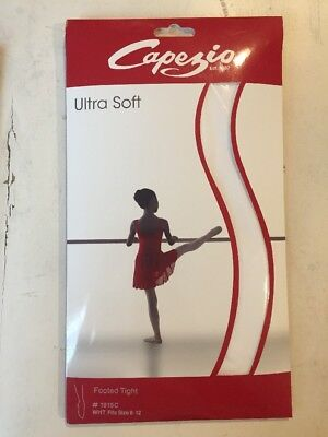 Capezio girl's tights - NEW - Whte - Footed - toddler & child sizes
