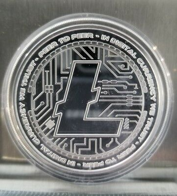 LITECOIN CRYPTO ICON PROOF COIN 1 OZ .999 SILVER COMMEMORATIVE satoshi BITCOIN