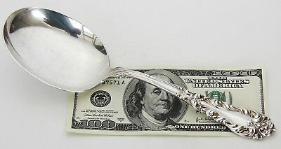 Antique Signed Amston Athene/Crescendo LARGE Sterling Silver Berry/Serving Spoon