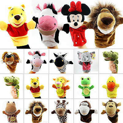 Family Animal Hand Glove Puppet Kids Cartoon Educational Soft Push Toys Dolls