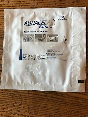 Convatec AQUACEL AG Extra 4 X 5 inch  Lot of 5