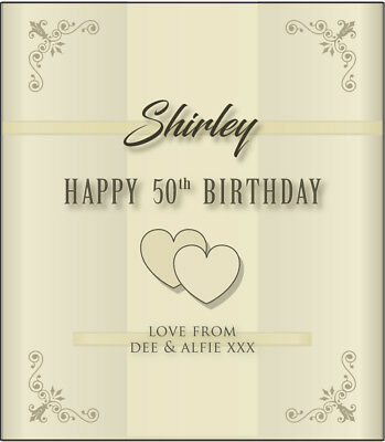 Happy Birthday PERSONALISED WINE LABEL - Any name, any age 21st 40th 50th etc