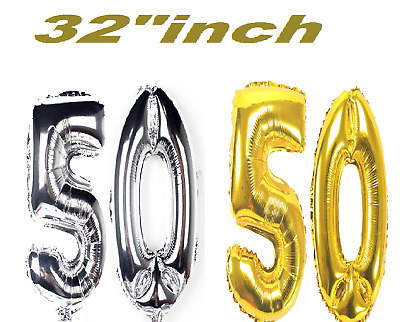 AGE 50 - Happy 50th Birthday GOLD SILVER - Party Range, Banners & Decorations