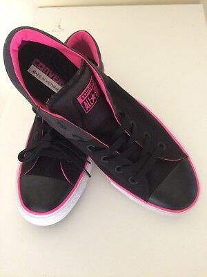 Womens Converse All Star Madison Ox Size 10 Black|Pink  Sneakers NEW
