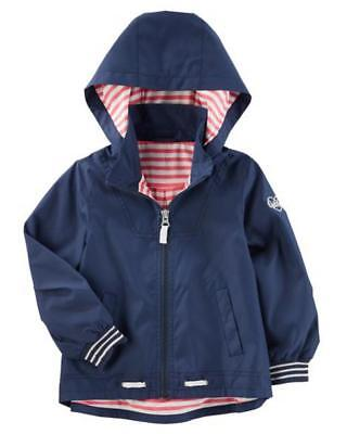 3ace9e58c OSH KOSH B GOSH Toddler Girls Navy Blue Lightweight Jacket Size 2T ...