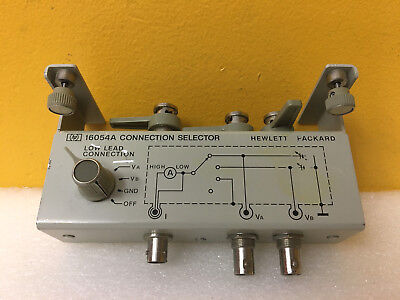 HP / Agilent 16054A BNC Inputs-Outputs, Connection Selector, For 4140B