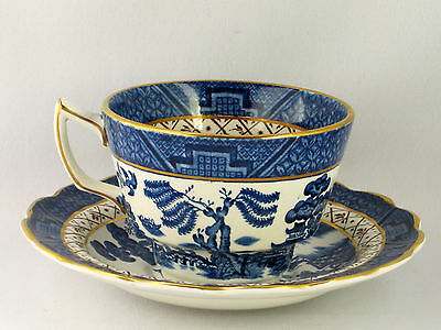 Vintage 2 cup & saucer sets Booths Old Willow Pattern China  94