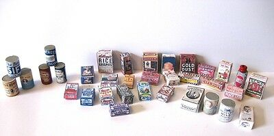 VICTORIAN  STYLE   grocery selection  DOLLSHOUSE MINIATURES