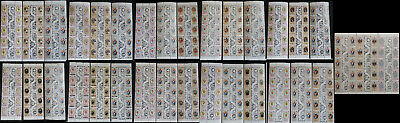 1981 Royal Wedding Stamps 11 Commonwealth Countries Block of 10 with Gutter
