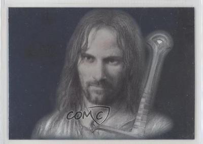 2006 Topps Lord of the Rings Masterpieces Art Cards #1 Aragorn Card 5d7