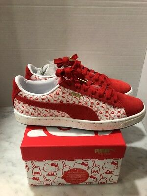 d0608515e NIB Puma x Hello Kitty 50 Anniversary Suede Red White Women Size 8 SOLD OUT
