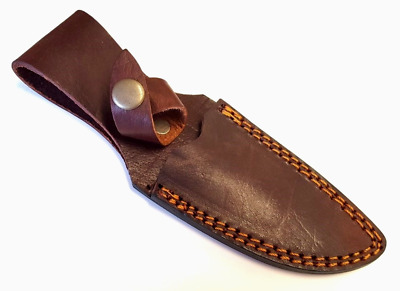 """Brown Leather Fixed Blade Knife Sheath For  4 """" Blade"""