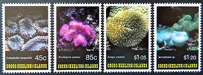 1993 Cocos Keeling Island Stamps - Corals of Cocos - Set of 4 MNH