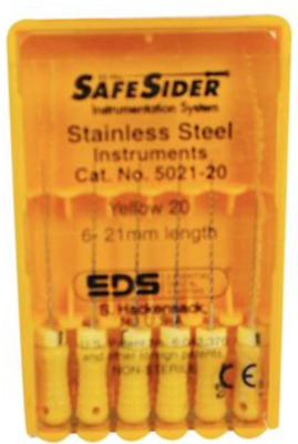 Essential Dental Systems 5021-20 SafeSiders Reamers Stainless Steel 21mm 20 6/Pk
