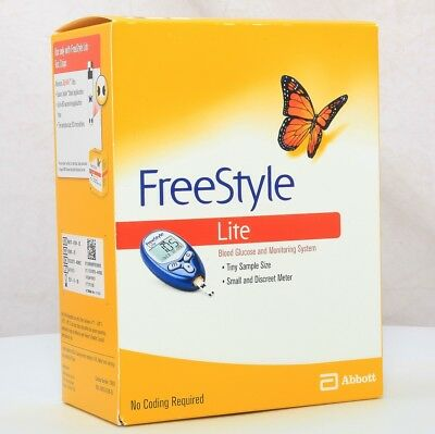 New FreeStyle 70805 Lite Blood Glucose and Monitoring System No Coding Required
