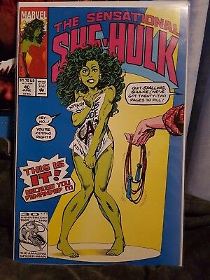 Marvel Comic Sensational She Hulk 40 John Byrne Naked Jump Rope Cover Rare! Nude