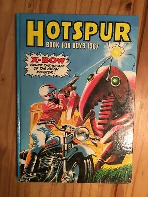 Hotspur Book for Boys 1987 (Annual) (Hardcover) Book , Clipped, Very Good