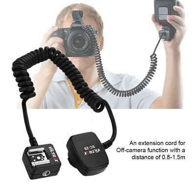 0.8M TTL Off Camera Flash Cable Hot Shoe Extension Sync Cord for Nikon DSLR