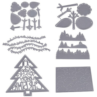 Christmas Tree DIY Steel Cutting Cutter Dies Stencil Embossing Scrapbooking Card