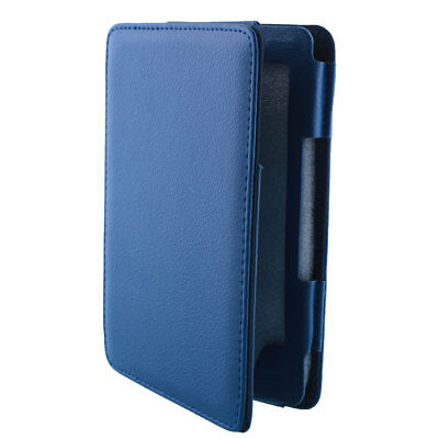 PU Leather Case For Amazon Kindle 4/5 eBook Flip Thin Magnetic Smart Cover Blue