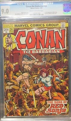 Conan the Barbarian #24. CGC 9.0 First full appearance Red Sonja