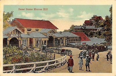 POSTCARD   INDIA   MURREE  HILL   Bazaar  Scene