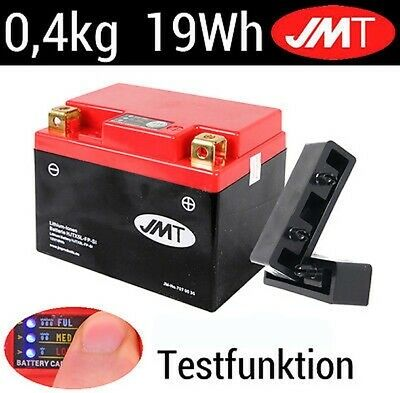 JMT Lithium Ionen Batterie mit Indicator YTX5L-BS Kymco ZX 50 Fever 1995-1998