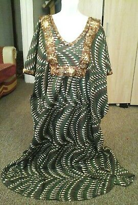 Homemade ladies African dress free size plus size to fit chest up to 60Rins