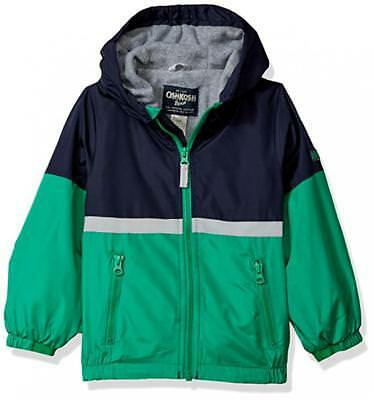 Osh Kosh B'gosh Boys Green Midweight Fleece Lined Jacket  Size 2T 3T 4T 4 5/6 7