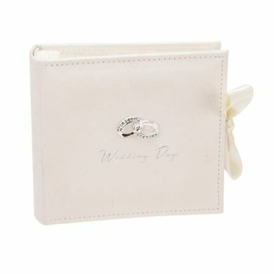 AMORE LUXURY WEDDING PHOTO ALBUM - IVORY SUEDE 100 6x4 PHOTOS