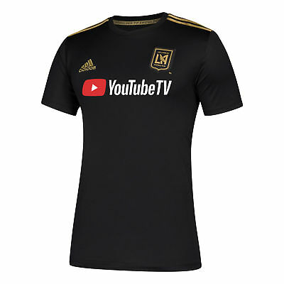 Official Los Angeles FC Football Home Shirt Tee Top Jersey 2018 adidas Mens