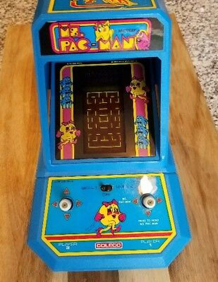 Ms.pac-Man Coleco Arcade Original Stickers, Working Clean W/battery Cover