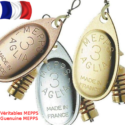 Mepps Aglia Spinner/Lure Sizes 00-5 Silver,Gold,Copper Colours Trout Perch Lure