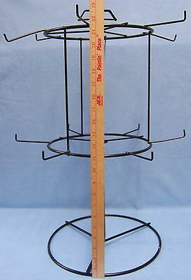 Counter Top Metal Wire Store Display Rack Rotating Spinning Table Top Black