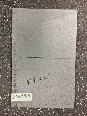 "NYLON plate 0.5"" thick x 7.875"" wide x 12.125"" long"
