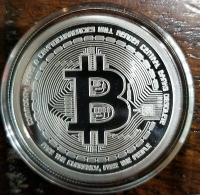 2012 Bitcoin Proof 1 oz .999 silver commemorative coin AOCS no longer made