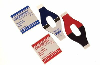 """Crosstex TPH Horseshoe Articulating Papers .0028"""" 71 Microns Red/Blue 6/Pk"""