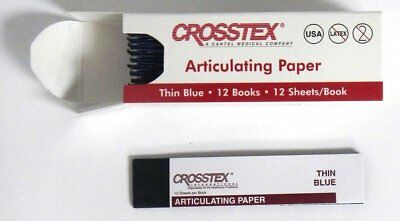 """Crosstex TPT Articulating Paper Thin Blue .0028"""" 71 Microns 144/Sheets"""