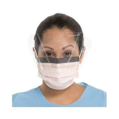 Halyard Health 00146 FluidShield ASTM Level 3 Earloop Masks w/ Shield Blue 25/Bx