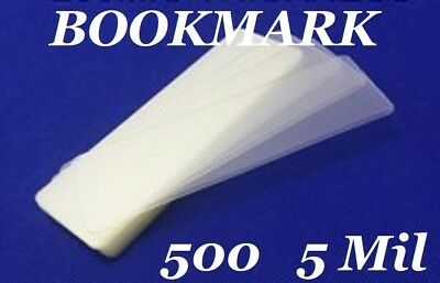 500 Bookmark Small 5 Mil Laminating Pouches Laminator Sleeves 2-1/8 x 6
