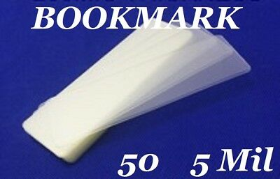 50 Bookmark Small 5 Mil Laminating Pouches Laminator Sleeves 2-1/8 x 6