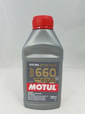 101667 Motul RBF660 FACTORY LINE Racing Brake Fluid (500ml, 16.9 fluid ounces)