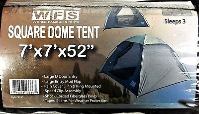 WFS 7' X 7' Square Dome lightweight taped seam Backpacking Tent