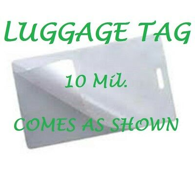 50 Luggage Tag 10 Mil Laminating Pouches Laminator Sheets With Slot 2.5 x 4.25