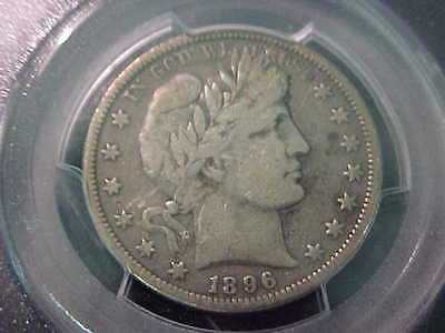 1896-O  PCGS F-12  Barber Half Dollar  Almost a Complete Liberty