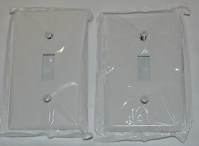 2 Pack Plastic Single Switch Wall Plate,No 88001,  Leviton Mfg Co (White)