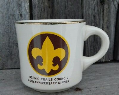 Scenic Trails Council 40th Anniversary Dinner MI Coffee Cup Mug BSA Boy Scout
